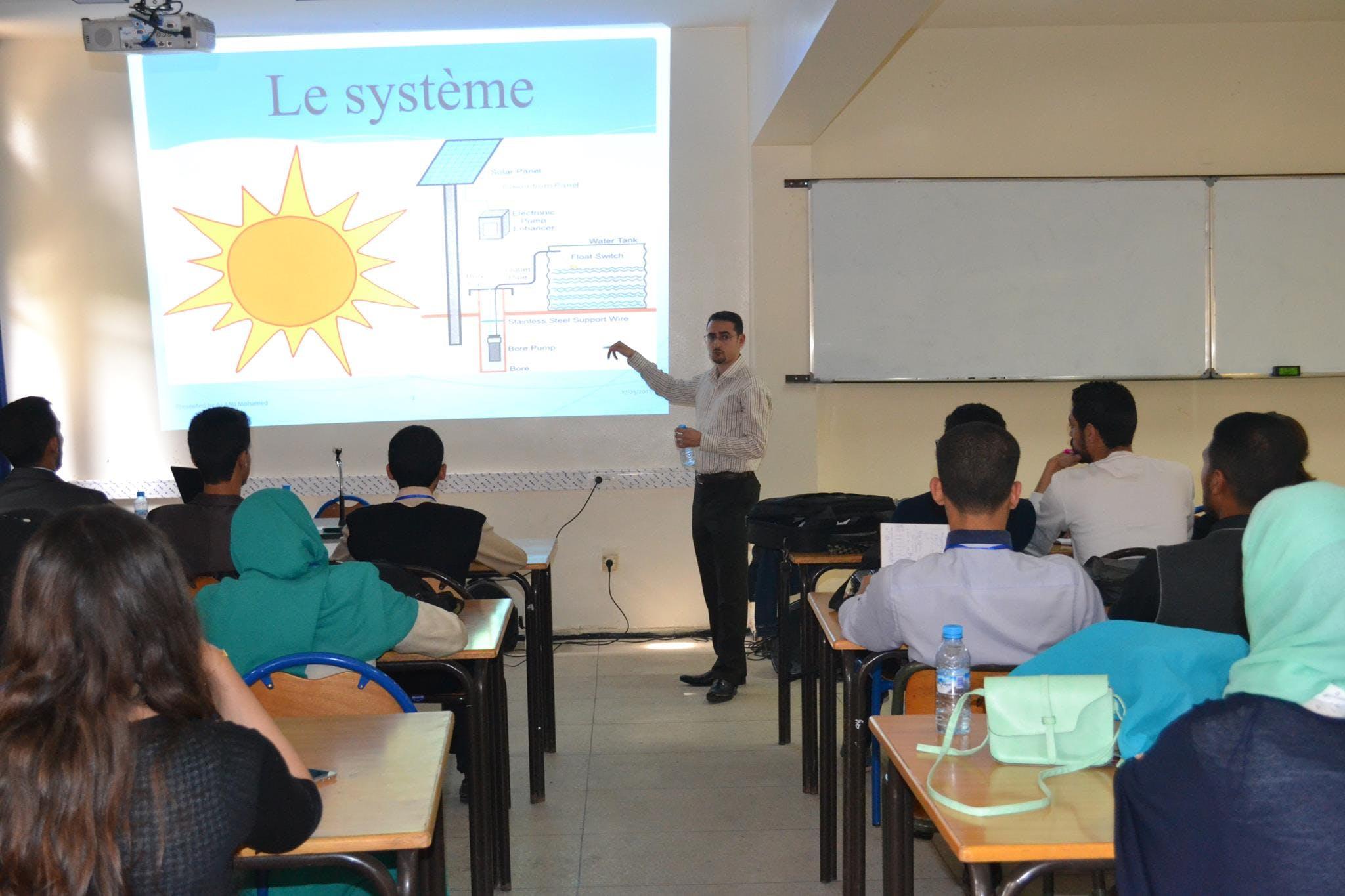 Physique Atelier pompage solaire
